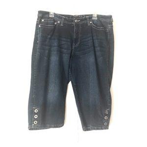 Sonoma dark blue Capri jeans